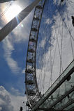 London Eye. A picture of the London Eye from the ground level looking up Royalty Free Stock Image