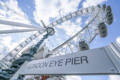 London Eye Pier  London UK Royalty Free Stock Photography