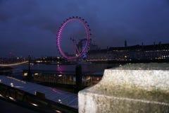 London Eye-Rad des Gesamt-sehenden Anblicks stockbilder