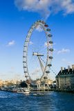 London Eye. River, Cloud, Water, people Stock Photography