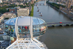 London Eye and river Thames Royalty Free Stock Image