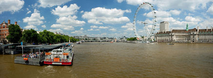 The London Eye on River Thames Royalty Free Stock Photography