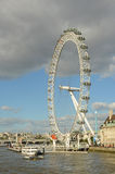 London Eye, river Thames, London, United Kingdom stock image