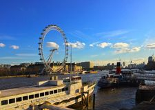 The London Eye on the River Thames UK Stock Images