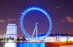 London Eye and river Thames Stock Image