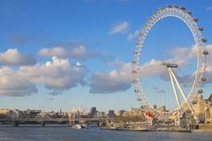 London Eye and River Thames Royalty Free Stock Photos