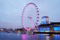 London Eye. Shine Tamisa River Royalty Free Stock Photo