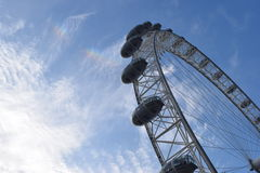 London Eye. Shot of London eye with a different perspective Royalty Free Stock Image
