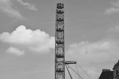 London Eye from the side Royalty Free Stock Photography