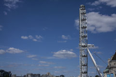 London - The London Eye from a side. Royalty Free Stock Image