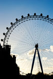 London Eye Silhouette Stock Image