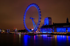 London Eye. Situated on the Thames River, London Royalty Free Stock Photos