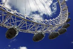 London eye and sky Royalty Free Stock Images