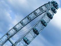 London Eye with sky in diagonal composition Royalty Free Stock Images
