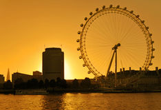 The London Eye skyline Stock Photography