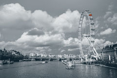 The London Eye and skyline Royalty Free Stock Photo