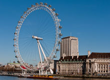 London Eye on the South Bank Royalty Free Stock Photo
