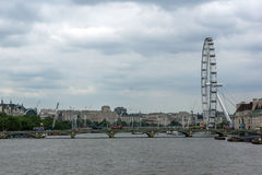 The London Eye on the South Bank of the River Thames in London, England, Great Britain Stock Photos