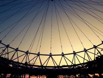 London Eye. The structure of  London Eye in London, England Royalty Free Stock Photo