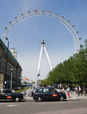 London Eye on a summer day Stock Images