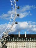 London Eye on sunny day Royalty Free Stock Photo