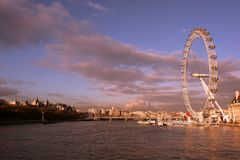 London Eye sunset Royalty Free Stock Photography