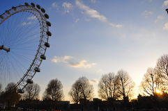 London Eye at sunset Royalty Free Stock Images