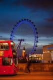 London Eye at sunset Royalty Free Stock Image