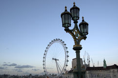 London Eye and the surrounding Royalty Free Stock Photos