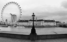 London Eye. Taken from the parliament side of the Thames Stock Photography