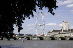 London Eye and Thames Royalty Free Stock Image