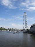 London Eye and the Thames Stock Photo