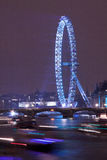 London Eye and Thames at New Year stock photography