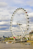 The London Eye and the Thames river Royalty Free Stock Image