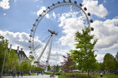 London eye on Thames river Royalty Free Stock Image