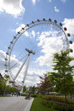 London eye on Thames river Stock Photography