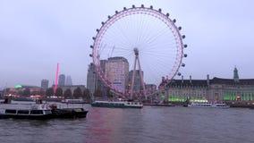 London Eye tidschackningsperiod lager videofilmer