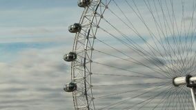 London eye tilt up timelapse stock footage