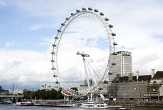 The London eye under the sky royalty free stock photography