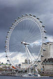 London Eye under a storm, view from Westminster Bridge Stock Photography