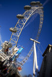 London Eye. London, United Kingdom - December 2, 2012: Close up view of London Eye,which is the tallest ferris wheel in Europe, along the bank of the Thames Stock Image