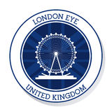 London eye. United kingdom.  graphic. United kingdom concept represented by london eye icon. Colorfull and flat illustration Stock Image