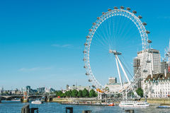London Eye. London, United Kingdom - May 22, 2017 : the famous London eye on the tames river Stock Image