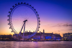 London Eye. View of the London eye Stock Images