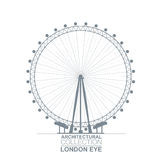 London Eye View Royalty Free Stock Photo