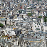 London Eye View. A view of London England from the Eye Stock Photography