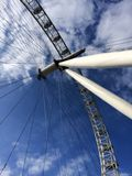London eye. View from underneath the London eye Royalty Free Stock Photography