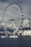 London Eye view from Westminster Bridge. Stock Photo