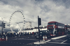 London Eye View From Westminster Bridge. Royalty Free Stock Photo
