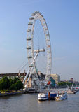 London Eye Viewed from London Bridge Royalty Free Stock Photos